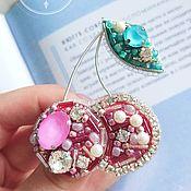Украшения handmade. Livemaster - original item Pink berries brooch