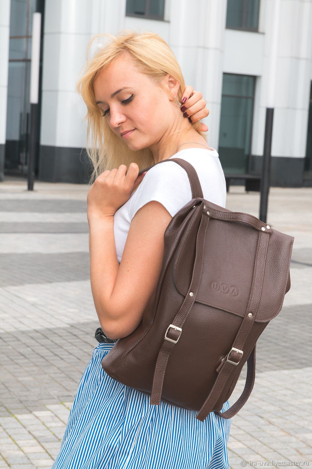 Leather backpack 'Moscow' brown, Backpacks, Moscow,  Фото №1