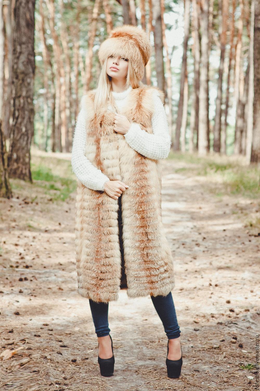 Long fox fur vest, Vests, Moscow,  Фото №1