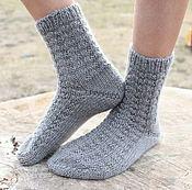 Аксессуары ручной работы. Ярмарка Мастеров - ручная работа Тепленькие носочки из лайки. Handmade.