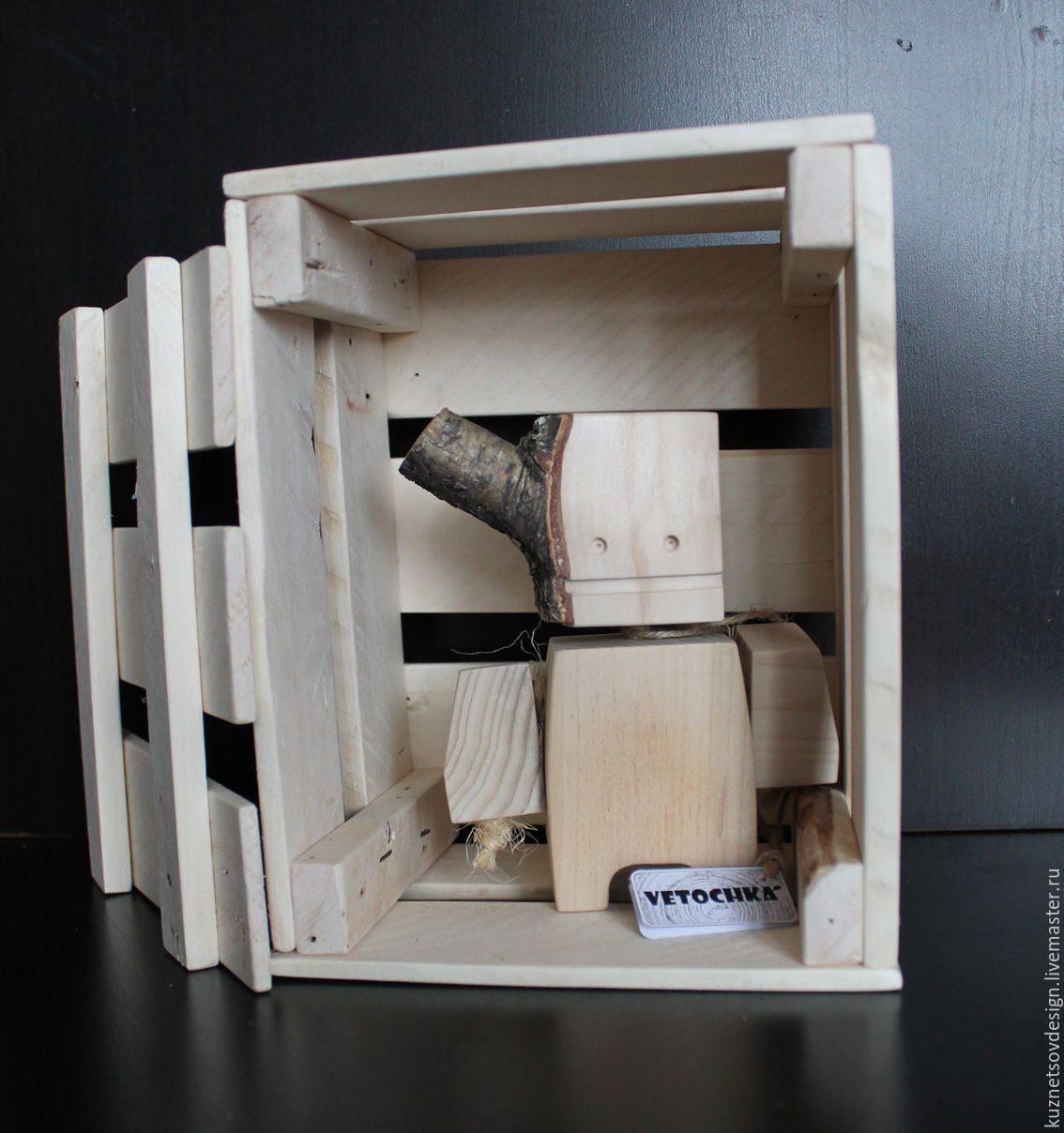 Робот деревянный # 4, Человечки, Москва, Фото №1