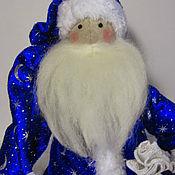 Куклы и игрушки ручной работы. Ярмарка Мастеров - ручная работа Санта в синем. Handmade.