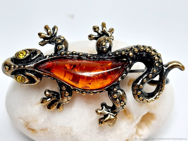 Brooch Lizard, Brooches, Moscow,  Фото №1
