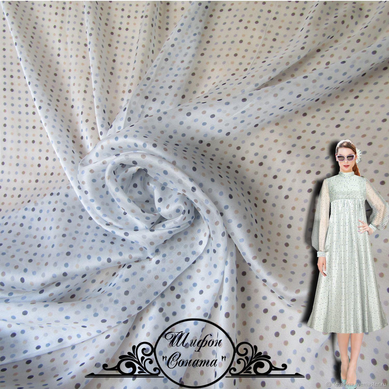 "Шифон шелковый Valentino ""Соната"" итальянские ткани, Fabric, Sochi,  Фото №1"