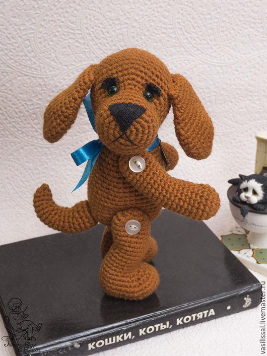 Игрушки животные, ручной работы. Ярмарка Мастеров - ручная работа. Купить Собака вязаная Друг - вязаная игрушка собака.. Handmade.