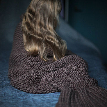 Для дома и интерьера handmade. Livemaster - original item Knitted plaid Mermaid Tail large knit. Handmade.
