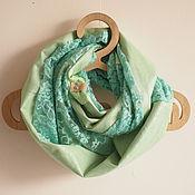 """Аксессуары ручной работы. Ярмарка Мастеров - ручная работа Весенний  шарф """"Мятный гипюр"""" бохошик. Handmade."""