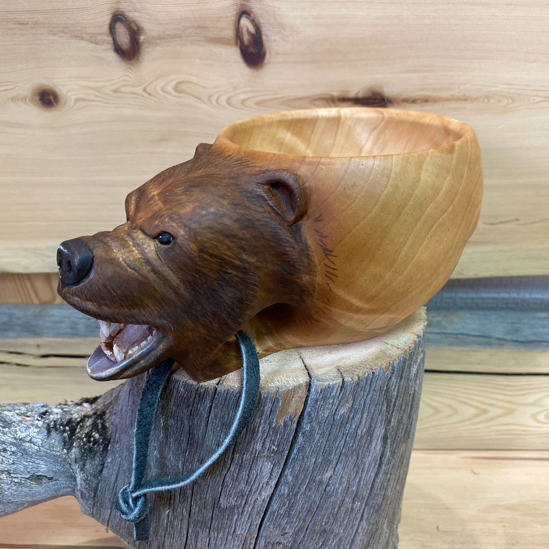 Кукса с головой ревущего медведя, Кружки, Мурманск,  Фото №1