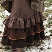 """Одежда ручной работы. Ярмарка Мастеров - ручная работа Нижняя юбка из льна """"Веточки деревьев"""". Handmade."""