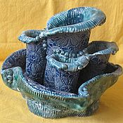 Вазы ручной работы. Ярмарка Мастеров - ручная работа Ваза для икебаны или коротких цветов. Handmade.