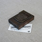 Сувениры и подарки handmade. Livemaster - original item Kent-nano cigarette case, leather case for cigarette packs. Handmade.