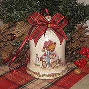"""Подарки к праздникам ручной работы. Ярмарка Мастеров - ручная работа Большой колокольчик """" Мой любимый мишка """". Handmade."""
