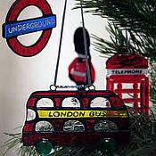 Подарки к праздникам ручной работы. Ярмарка Мастеров - ручная работа Коллекция елочных украшений Лондон. Handmade.