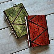 """Блокноты ручной работы. Ярмарка Мастеров - ручная работа Блокнот из дерева А6 """"Вихрь"""". Handmade."""