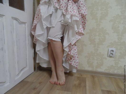 Белье ручной работы. Ярмарка Мастеров - ручная работа. Купить Панталончики. Handmade. Однотонный, бохо шик, белые панталоны