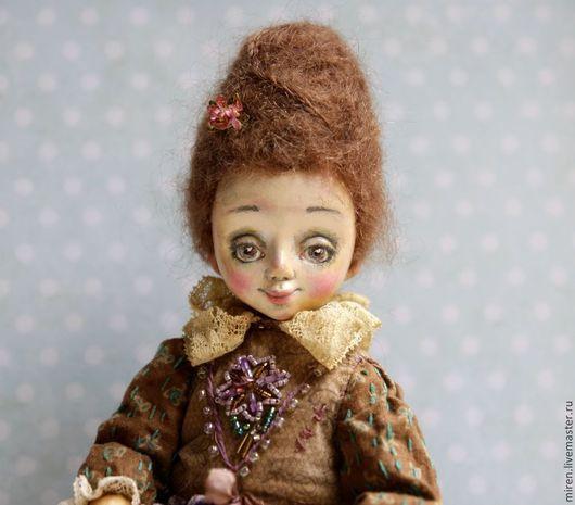 Коллекционные куклы ручной работы. Ярмарка Мастеров - ручная работа. Купить Кукла Иветта. Handmade. Разноцветный, состаренный стиль, хлопок