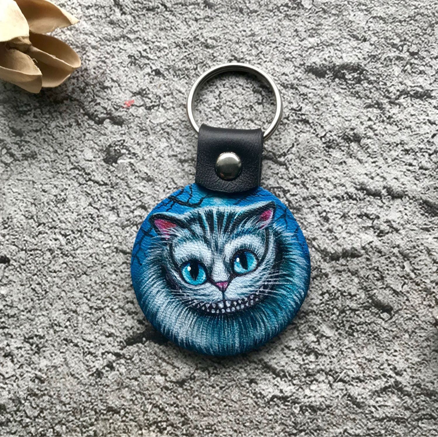 Genuine leather keychain with hand-painted design, Key chain, Moscow,  Фото №1