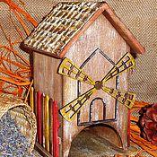 """Для дома и интерьера ручной работы. Ярмарка Мастеров - ручная работа """"На старой мельнице"""" домик для чайных пакетиков. Handmade."""