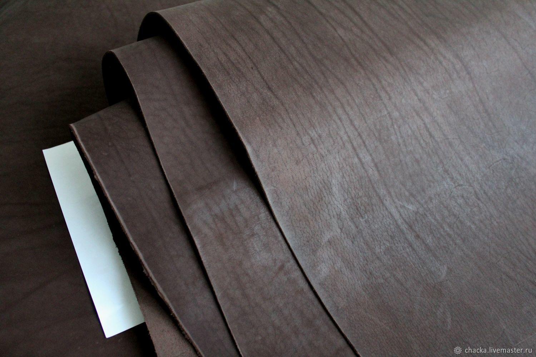 Шитье ручной работы. Ярмарка Мастеров - ручная работа. Купить Шорно-седельная кожа Кофе 2.3-2.5мм. Handmade.
