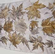 Аксессуары handmade. Livemaster - original item Silk scarf Yellow autumn leaf. Size 189h45 cm. 100% silk. Handmade.