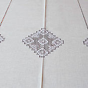 Для дома и интерьера handmade. Livemaster - original item Table cloth 140х200, embroidery, heirloom. white len.. Handmade.