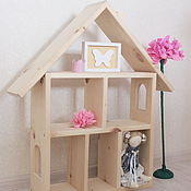 Для дома и интерьера handmade. Livemaster - original item Children`s wooden house shelf made of cedar For Susie. Handmade.