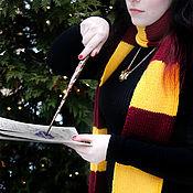 Аксессуары handmade. Livemaster - original item Scarf Harry Potter Gryffindor knit scarf Harry Potter. Handmade.