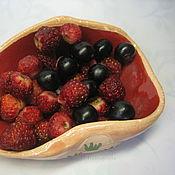 Посуда ручной работы. Ярмарка Мастеров - ручная работа Плошка керамическая для соуса или ягод. Handmade.