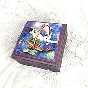 Для дома и интерьера handmade. Livemaster - original item The box is Lavender the cat. Handmade.