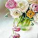 Картины цветов ручной работы. Ярмарка Мастеров - ручная работа. Купить Ранункулюсы. Handmade. Разноцветный, букет цветов, пастель, цветы