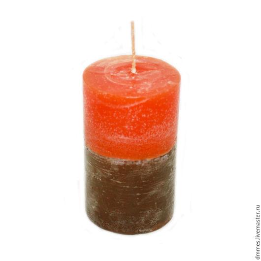 """Свечи ручной работы. Ярмарка Мастеров - ручная работа. Купить Ароматическая свеча """"Апельсин и корица"""". Handmade. Оранжевый"""