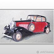 Плакаты, постеры ручной работы. Ярмарка Мастеров - ручная работа Rolls-Royce Phantom II_1934. Handmade.