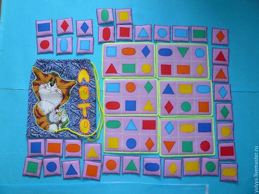 Развивающие игрушки ручной работы. Ярмарка Мастеров - ручная работа. Купить лото Геометрия. Handmade. Лото, цвет и форма