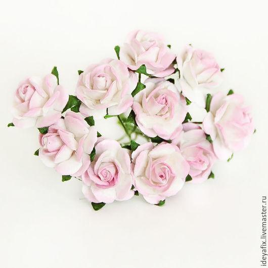 Диаметр цветочка 1,5 см. Длина проволочного стебелька 6 см.  Цена указана за букетик из 5 шт.