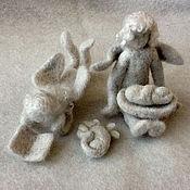 """Куклы и пупсы ручной работы. Ярмарка Мастеров - ручная работа Каминная войлочная игрушка """"Святое семейство"""". Handmade."""