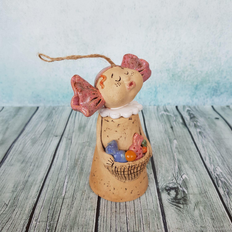 Колокольчик керамика девочка - Карамелька, Колокольчики, Ивантеевка, Фото №1