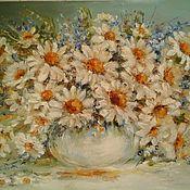 Картины и панно handmade. Livemaster - original item Oil painting of Daisies. Handmade.