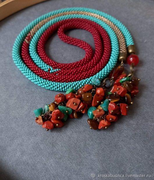 Long beads lariat ' Source of life force', Lariats, Novocheboksarsk,  Фото №1