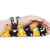 Куклы и игрушки ручной работы. Ярмарка Мастеров - ручная работа мини петушки цыплята войлочные Пасха 5шт+1 акция. Handmade.