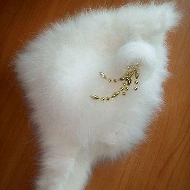 """Аксессуары ручной работы. Ярмарка Мастеров - ручная работа Шапочка """"буратинка"""" из пуха кролика белая. Handmade."""