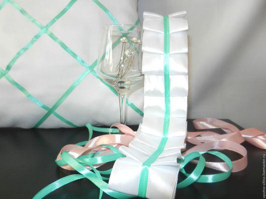 Свадебные аксессуары ручной работы. Ярмарка Мастеров - ручная работа. Купить Свадебные ленты. Handmade. Комбинированный, украшения на машину