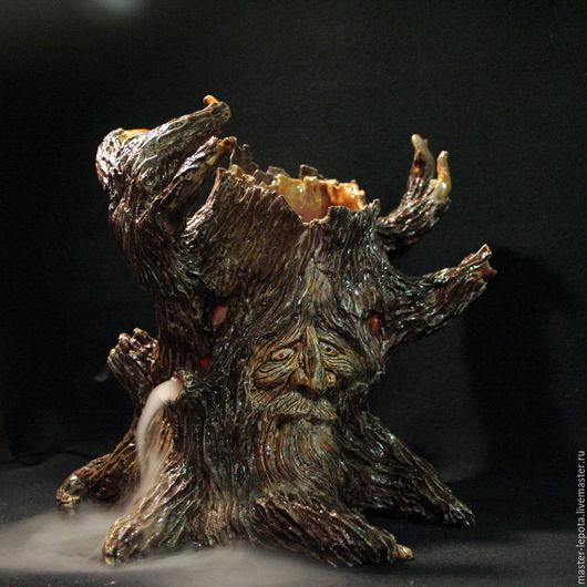 Освещение ручной работы. Ярмарка Мастеров - ручная работа. Купить Древень.   Керамика. Handmade. Дерево, сказочный лес, туман, керамика
