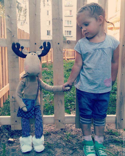 Куклы Тильды ручной работы. Ярмарка Мастеров - ручная работа. Купить лось Аристотель. Handmade. Бежевый, лось игрушка