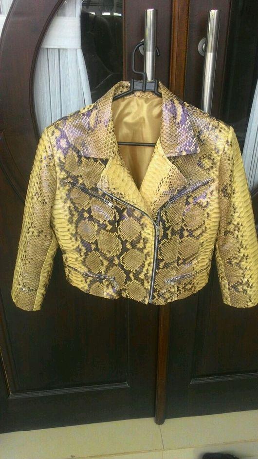 Верхняя одежда ручной работы. Ярмарка Мастеров - ручная работа. Купить Курточка из питона. Handmade. Куртка из кожи питона