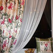 """Для дома и интерьера ручной работы. Ярмарка Мастеров - ручная работа Шторы для кухни """"Клематисы"""". Handmade."""