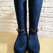 Обувь ручной работы. Ярмарка Мастеров - ручная работа Сапожки зимние валяные. Handmade.
