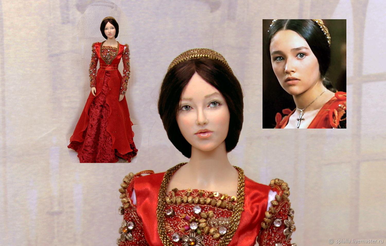 Портретные куклы ручной работы. Ярмарка Мастеров - ручная работа. Купить Джульетта полушарнирная портретная кукла. Handmade. Исторический костюм