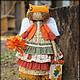 Ароматизированные куклы ручной работы. Рыжая осень. Фея осенних листочков. Ароматизированная кукла. Надежда Першина. Ярмарка Мастеров. Рыжий
