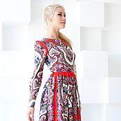 Одежда ручной работы. Ярмарка Мастеров - ручная работа Платье красное нарядное, платье из платка. Handmade.