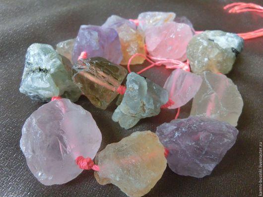 Ассорти кварца необработанные камни, самородок. Бусины кварца для колье, кварц фриформ бусины для браслетов, кварц бусины для серег.